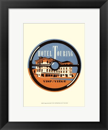 Framed Vintage Travel Label IV Print