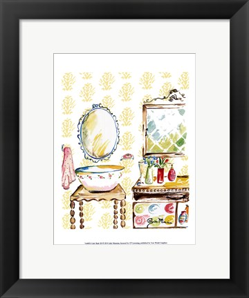 Framed Girly Bath III Print