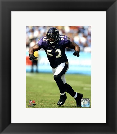 Framed Ray Lewis 2011 Action Print