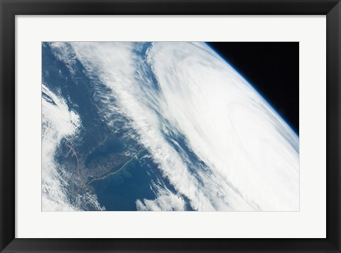Framed 2011 Hurricane Katia off the Northeastern US from space Print