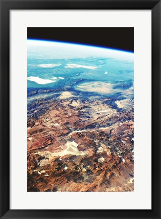 Framed Central Andes Mountains, from space Print