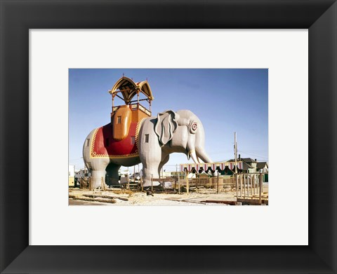 Framed Lucy the Margate Elephant HABS NJ Print