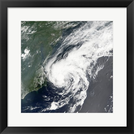 Framed Tropical Storm Beryl formed in the Northwestern Atlantic on July 18, 2006 Print