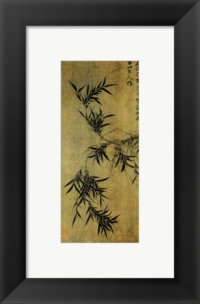 Framed Gu An Ink Bamboo Print