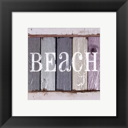Framed Beach Signs IV Print