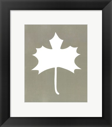 Framed Simple Sihouette IV Print