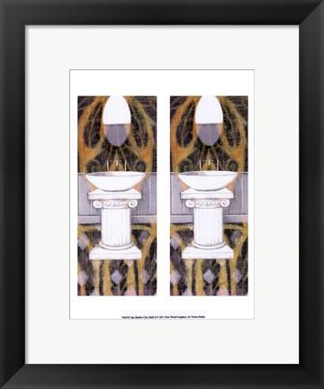 Framed 2up Shabby Chich Bath II Print