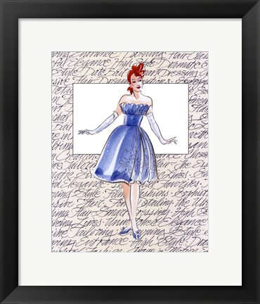 Framed 50's Fashion I Print