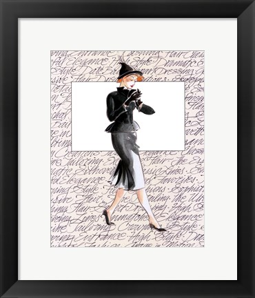 Framed 50's Fashion III Print