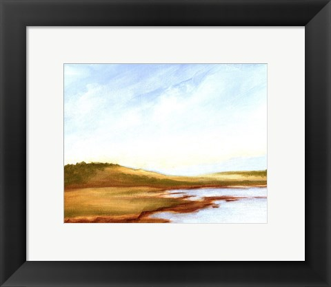Framed Small Summer Horizons I Print