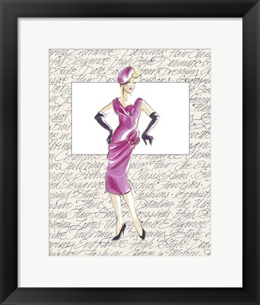 Framed 50's Fashion VI Print