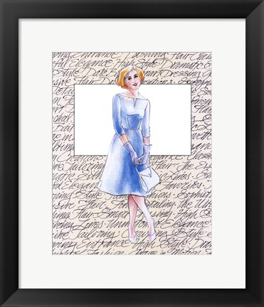 Framed 50's Fashion VIII Print