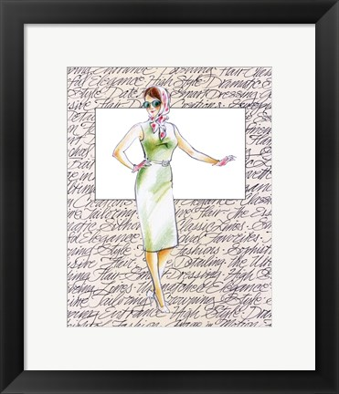 Framed 50's Fashion XII Print