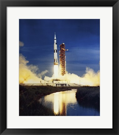 Framed Apollo Saturn V Print