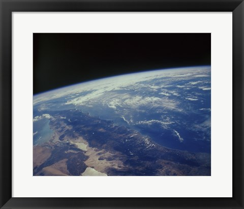 Framed Earth Showing Southern California Baja Los Angeles California Print
