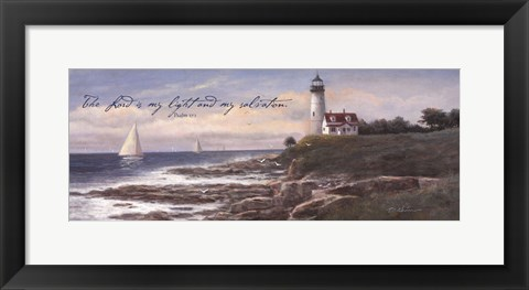 Framed Lighthouse - Dawn (verse) Print