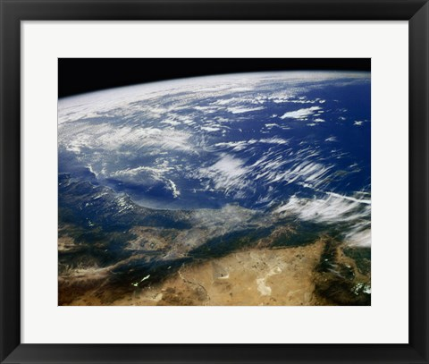 Framed Earth San Andreas and Garloch Faults California USA Print