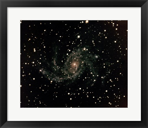 Framed Spiral Galaxy Type SC in Cygnas Print
