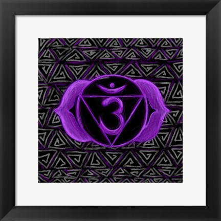 Framed Ajna - Third Eye Chakra, Awareness Print