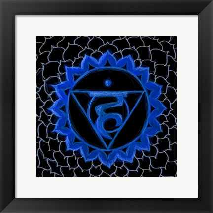 Framed Vishuddha - Throat Chakra, Purity Print