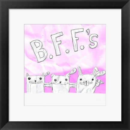 Framed BFF Cats Print