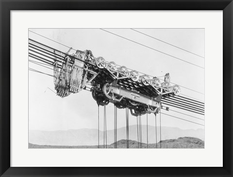 Framed Detail of carriage of permanent 150-ton cableway at Boulder Dam Print