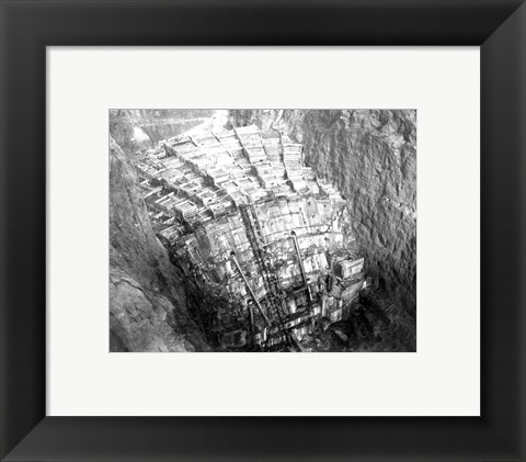 Framed As the Hoover Dam forms Print