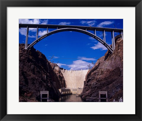 Framed Hoover Dam with Bypass from Reclamation Print