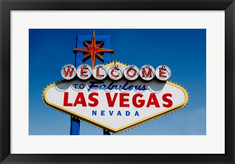 Framed Sign in daytime, Las Vegas, Nevada Print