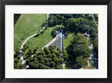 Framed Ariel view of the Korean War Monument Print