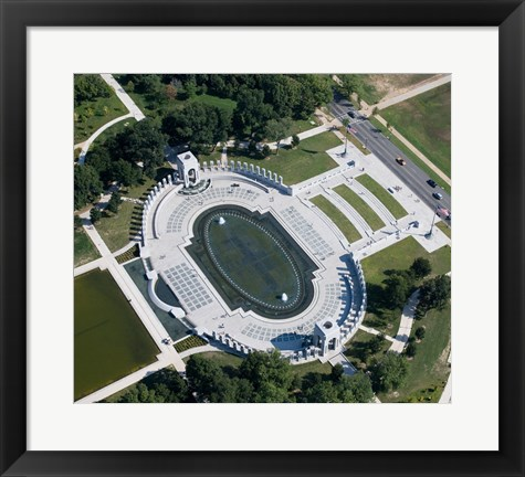 Framed Ariel view of the WW2 Monument Print