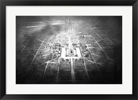Framed Conceptual drawing for Independence Square, Washington DC Print