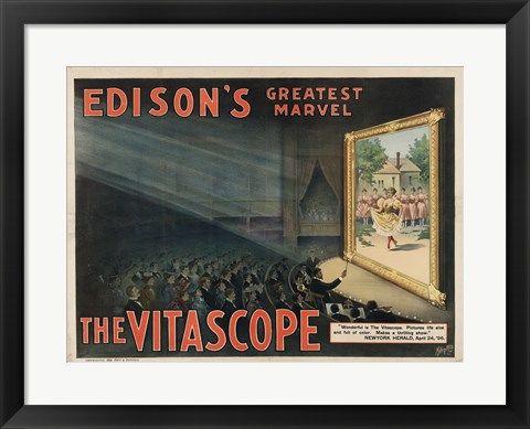 Framed Edisons Vitascope Print