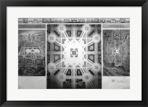 Framed Proposed drawing for Independence Square, Washington Memorial III Print