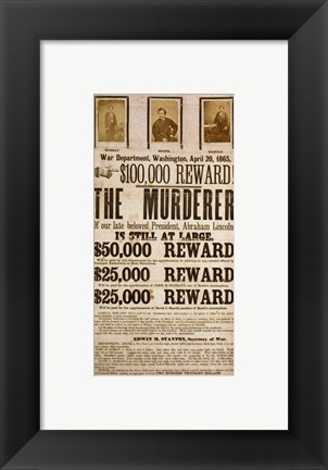 Framed Wanted Poster Print