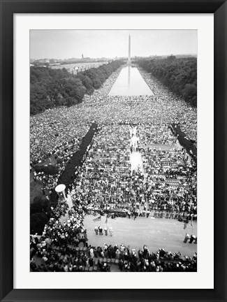 Framed Civil rights march on Washington Print