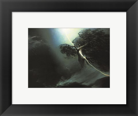 Framed Lightning Strike Print