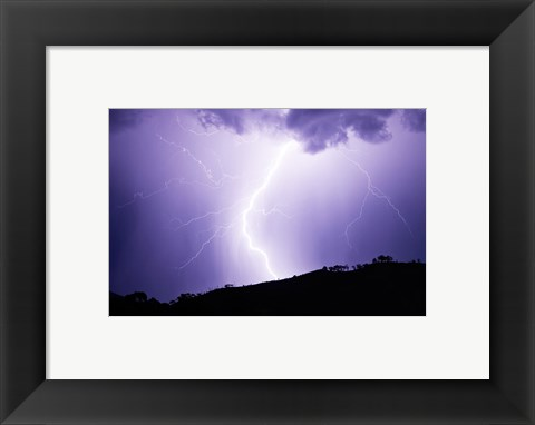 Framed Lightning Strike 2007 Print