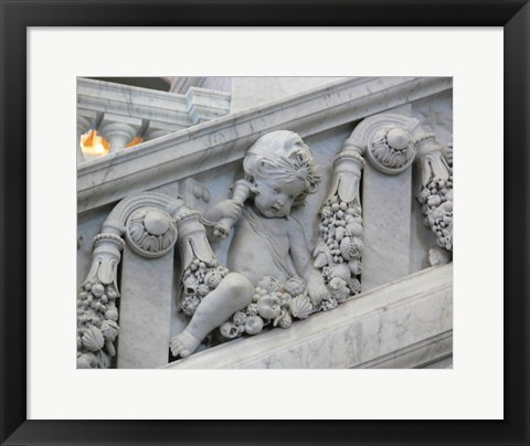 Framed Library of congress architecture detail Print