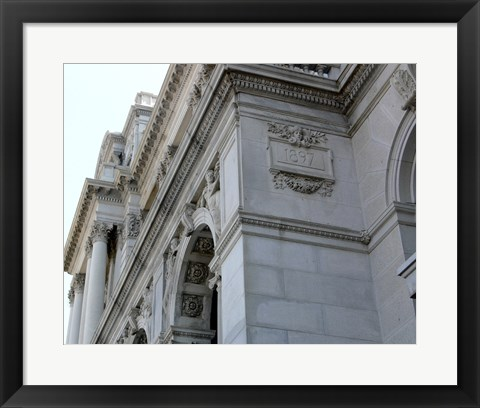 Framed Library of Congress Washington Print