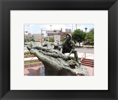 Framed San Antonio Texas Vietnam Veterans Memorial Print