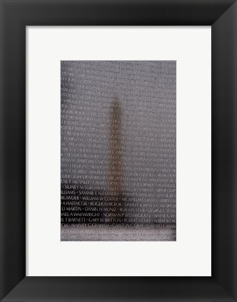 Framed Vietnam Veterans Memorial in Washington DC Print