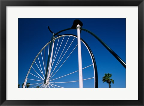 Framed Close-up of a Penny farthing bicycle, Santa Barbara, California, USA Print