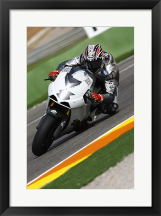 Framed Garry McCoy riding the Ilmor X3 MotoGP Print