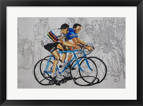 Framed Murales coppi bicycles Print