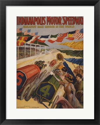 Framed Indianapolis Motor Speedway Print