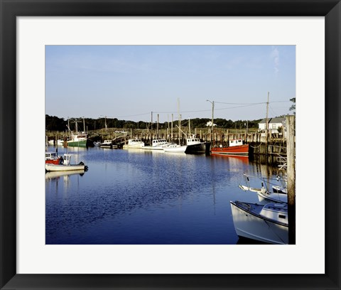Framed Orleans harbor, Cape Cod, Massachusetts Print