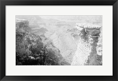 Framed Grand Canyon of Arizona from the head of Grand View trail Print