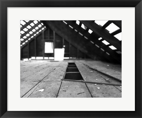 Framed Abandoned Attic Print