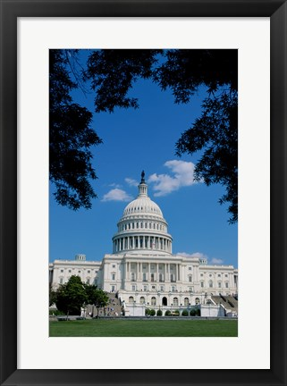 Framed Facade of the Capitol Building, Washington, D.C., USA Print